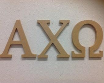 Alpha Chi Omega wood Greek letters