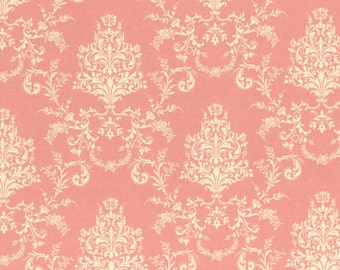 Rococo Sweet 2014  Pink Damask  Cotton Fabric Lecien 30156-20