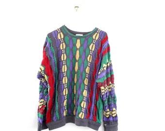 Authentic COOGI Sweater Vintage // Knit Mercerised Cotton // Original Medium // Australia // STAINED See Photos