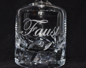 Etched Cut Crystal Decanter Personalized for You, Home Bar, Elegant Wedding Gift, Groom or Best Man by Jackglass on Etsy