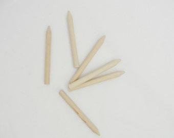 Wooden crayon, diy crayon, unfinished wooden crayon, set of 6