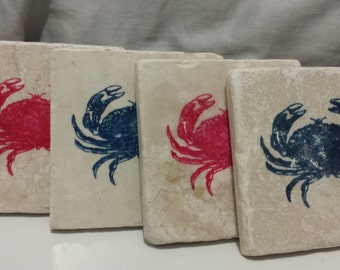 Crab Beverage Coasters (set of 4)
