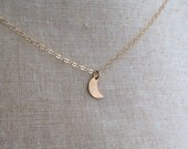 Moon Goddess Necklace, Dainty Moon Necklace, Crescent Moon Necklace, Gold Moon Necklace, Bridesmaid Jewelry, Mother Daughter Necklace