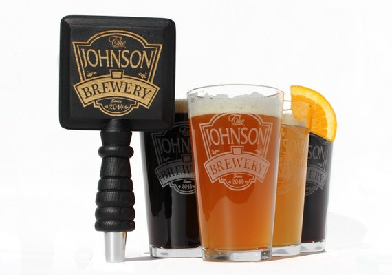 Custom Beer Tap Handle Fits your standard Kegerator Beer Tap Faucet. Matching Pint Glasses Craft Beer, Home Brew, Home Brewing