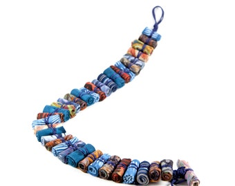 African tribal necklace, unique necklaces for women, funky jewelry, tribal Jewelry, fabric Necklace, unique women's necklace