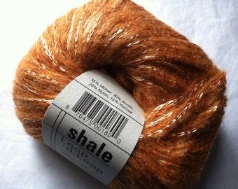 Tahki Stacy Charles Shale #3 Pumpkin Gold Mohair Acrylic Nylon Viscose Yarn 50gr