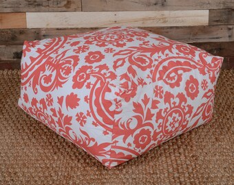 SALE Cover Only Floor Pouf Coral Suzani Beach Kids Play Room Nursery