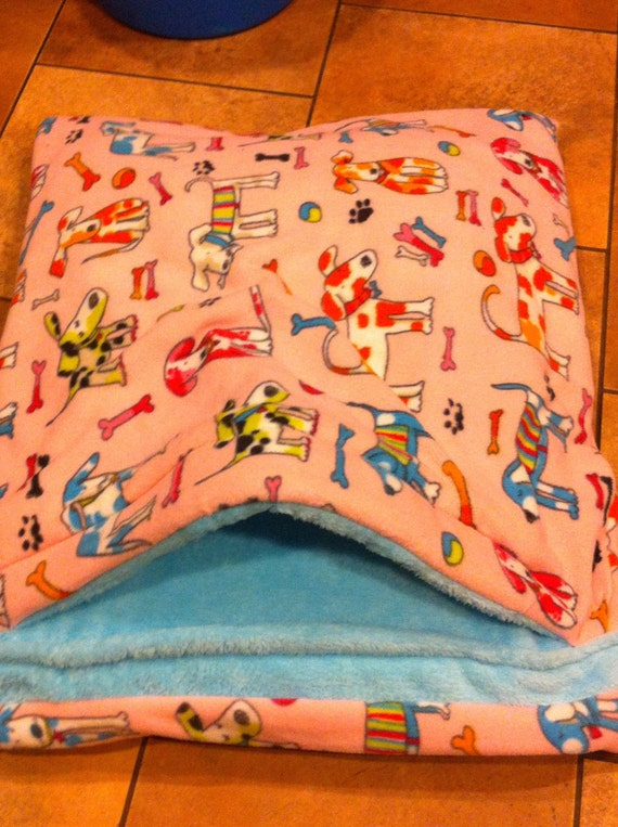 Snuggle Sack Pillow Bed 24 X 27 Lots Of Dogs On By Fortunespet