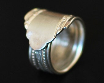 Silver Plated Spoon Ring, 1938 Juliet, Cambridge Silver Plate, Nearly Any Size, Custom Stamping or Engraving Available