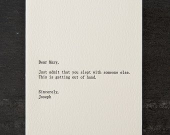 mary / joseph. letterpress card. #254