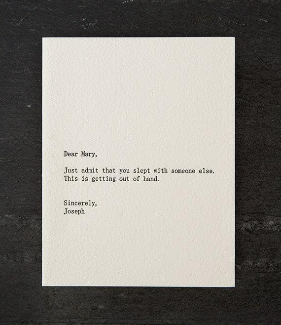 mary / joseph. letterpress card. #254