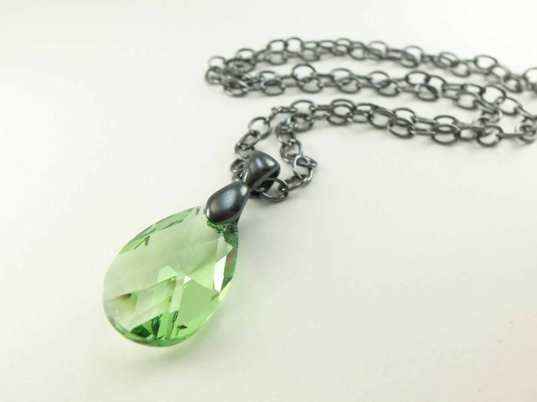 Peridot birthstone necklace august birthstone peridot by jalycme