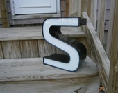 Vintage Metal Wall Letter - S - Marquee Letters - Industrial Salvage Channel Letter
