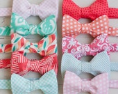 The Beau- men's coral/mint/peach/blush collection freestyle bow ties- choose your favorite print