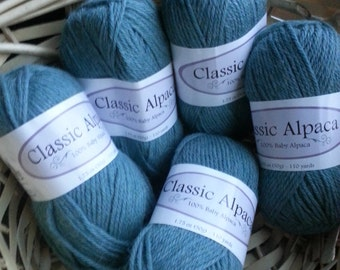 Beautiful Heather Green Worsted Alpaca Yarn