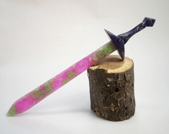 Acrylic Hair Sword - Opal Flake and Violet Mist - No 28