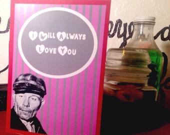 Ed Gein Valentine card