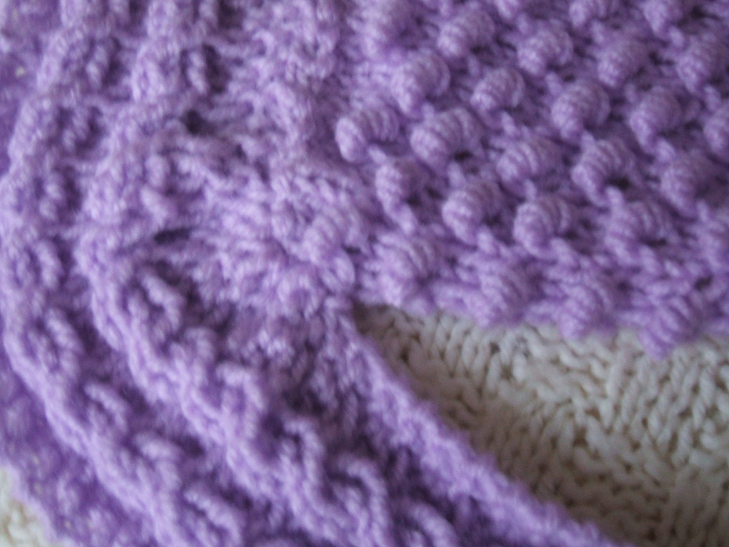 SALE! Baby Blanket knitting pattern in Coil & Irish Moss Stitch ...