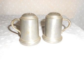 Web Pewter Salt and Pepper Shakers