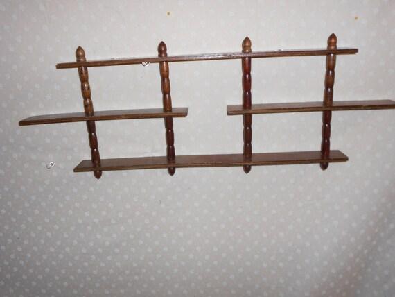 Spindle Wooden Wall Shelves Display Shelf Knick Knacks