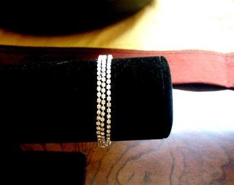 Sparkling Rhinestone Wrap Bracelet or Necklace, Wedding Jewelry