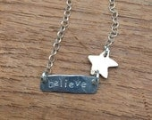 believe star necklace