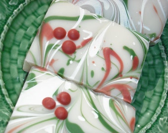 Rosemary Mint Soap with Shea Butter / HOLIDAY SOAP / Cold Process Soap