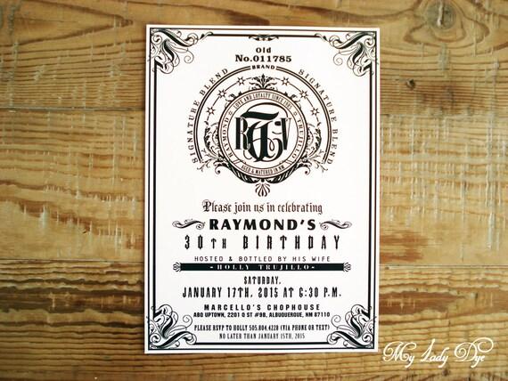 25 jack daniels inspired ultra modern birthday invitations wine il570xn filmwisefo