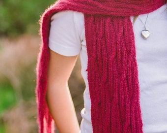 Reversable Cable Scarf Knitting Pattern