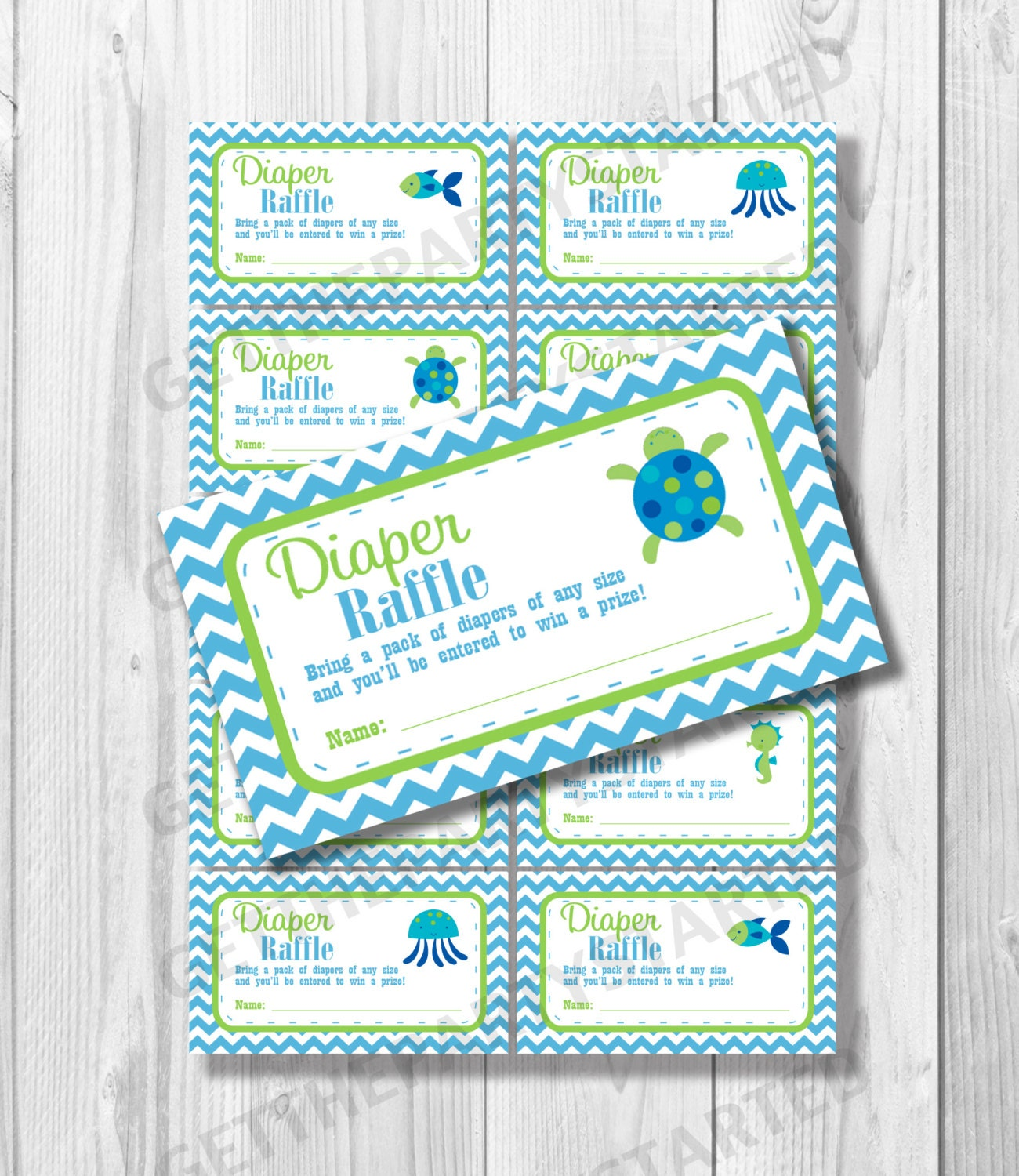 diaper raffle tickets printable baby shower raffle ticket