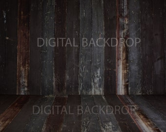 Baby Toddler Child Photography Prop Digital Backdrop for Photographers -WOOD WALL and Floor DIGITAL Backdrop