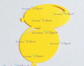 """63 Balloon Die Cut Size 3"""" -Paper Balloon Tags -Cardstock Balloon Labels -Cardstock die cuts -Paper tags -Balloon Labels -Paper Balloon"""