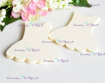 "54 Ballerina Dress Tags Size 3"" -Custom Ballerina Labels -Princess dress die cuts -Custom Paper Labels -Personalized tags"