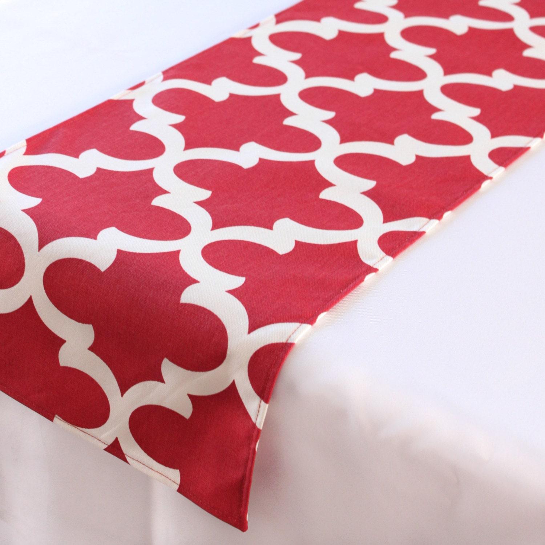 red moroccan tile table runner choose length july fourth. Black Bedroom Furniture Sets. Home Design Ideas