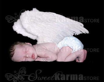 Laying Child Angel Wings Style 2 Digital Photography Photo Prop FILE #9996