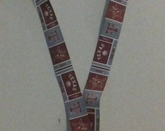 Texas A & M  Lanyard ID Badge holder 242619