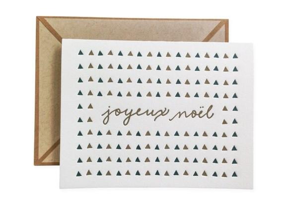Typogravure Joyeux Noel