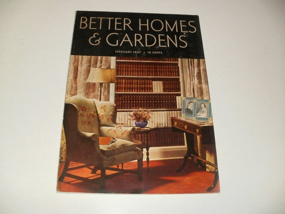 Items Similar To Vintage Better Homes And Gardens Magazine February 1937 Retro 1930s Art