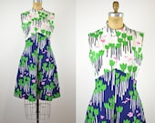 60s tulip print dress floral dress 1960s novelty print dress 1960s dress