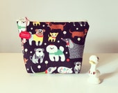 Cosmetic bag 7 inch zipper pouch