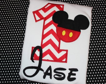 Mickey Mouse birthday shirt for boy- any number