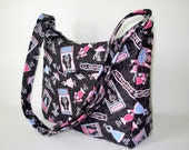 Katie Everyday Bag Cross Body Bag Vera Bradley Type Quilted Bag Paris Theme Pink Blue black