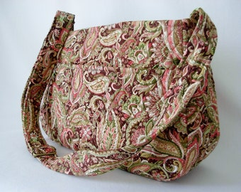 Cross Body Hobo Bag Vera BradleyType Quilted Tote Diaper Bag Travel Bag Multi Color Paisley Large Adjustable Strap
