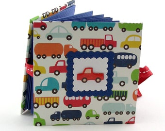 Cars & Trucks Mini Photo Book, 2x3 wallets - red, blue, primary colors