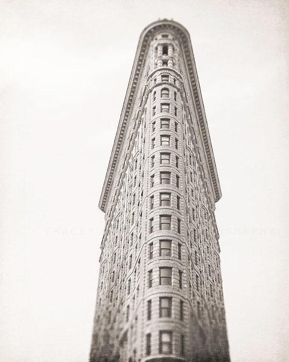 The Flatiron Building, NYC Decor, Black and White Wall Art Print  photography, home decor, minimalist, neutral, urban, grey, white wall art