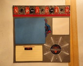 Superheroes - Spiderman 8 x 8 scrapbook page