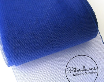 6 Inch (15cm) Wide Crinoline (Crin, Horsehair Braid) for Hats, Millinery, and Fascinators - Royal Blue