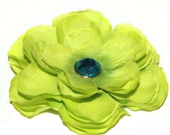 Light Green Silk Embellished Ranunculus -  Silk Flowers, Artificial Flower