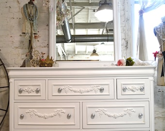 Painted Cottage Chic Shabby Romantic French Dresser LGDR17