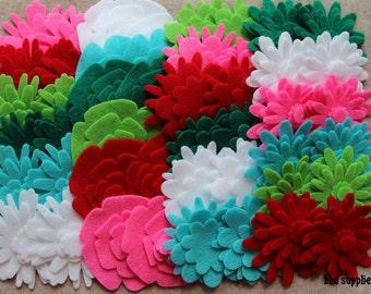 Fa La La - Flower Power Pack - 180 Die Cut Felt Flowers